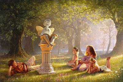 Flower Pink Fairy Child Painting - Fairy Tales  by Greg Olsen