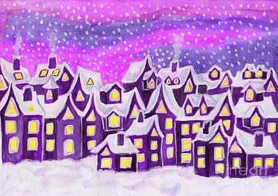 Painting - Fairy Town, Painting by Irina Afonskaya