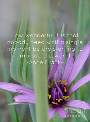 Photograph - Fairy Wish Flower Quote by Susan Garren