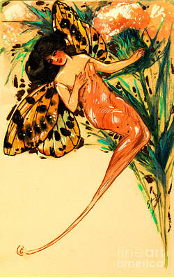 Painting - Fairy With Butterfly Wings by Peter Gumaer Ogden