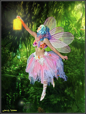 Photograph - Fairy With Light by Jon Volden