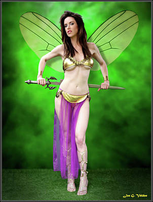 Photograph - Fairy With Sword by Jon Volden