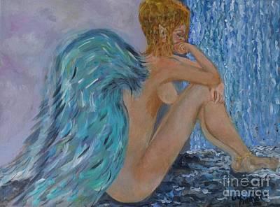 Angel Blues Drawing - Fairy Wonder by Liz Pritchett