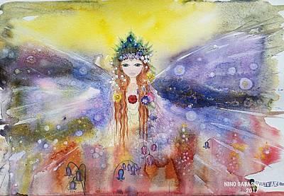 Painting - Fairy World by Nino Gabashvili