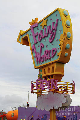 Photograph - Fairy World Taxi Spin At Blackpool Pleasure Beach by Doc Braham