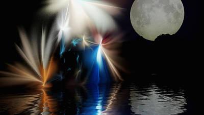 Digital Art - Fairy's Moonlight Ball by David Lane