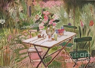 Painting - Fairytale Garden by Gita Vasa