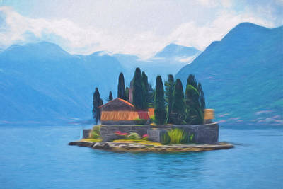Painting - Fairytale Island by Lutz Baar