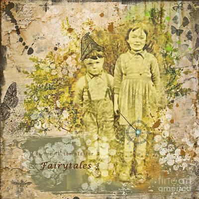 Childlike Mixed Media - Fairytales by Gillian Singleton