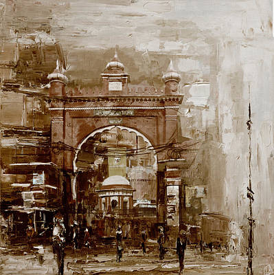 Polo Painting - Faisalabad 4b by Maryam Mughal