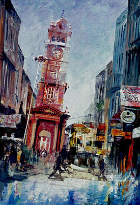 Sports Artist Painting - Faisalabad 6b by Maryam Mughal