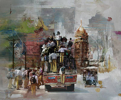 Sports Artist Painting - Faisalabad 9 by Maryam Mughal