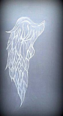Angelic Drawing - Faith by Frances Lewis