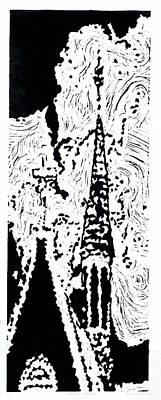 Faith--hand-pulled Linoleum Cut Relief Print Art Print