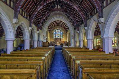 Christian Sacred Photograph - Faith Hope And Love by Ian Mitchell