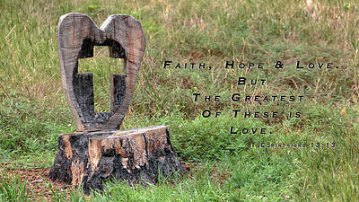 Photograph - Faith Hope And Love by Susan Rissi Tregoning