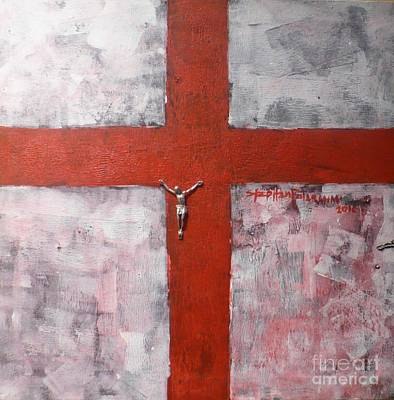 Faith In The Cross Art Print by Stephen Folaranmi