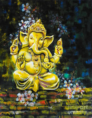 Ganapathi Painting - Faith by Hermana Arts