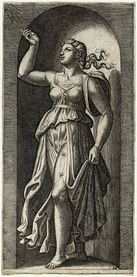 Drawing - Faith by Marcantonio Raimondi