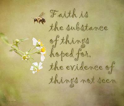 Faith Art Print by Mechala  Matthews