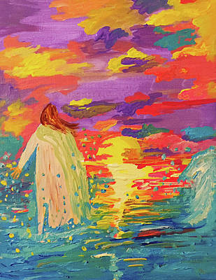 Painting - Faith On The Water by Angela Holmes
