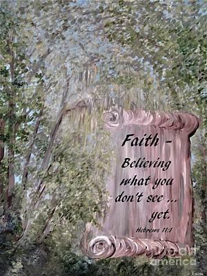 Religious Painting - Faith Scroll by Eloise Schneider