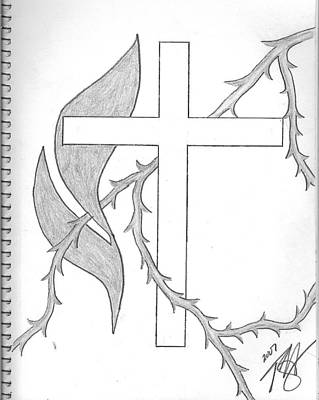 Dross Drawing - Faith by Theodore Hughes