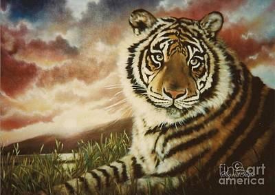 Painting - Blaa Kattproduksjoner         Faith Tiger by Sigrid Tune