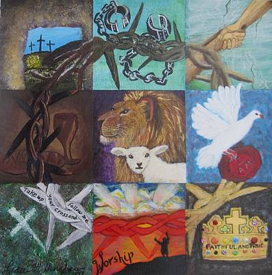 Lion And Lamb Painting - Faithful And True by Lisa Hinshaw