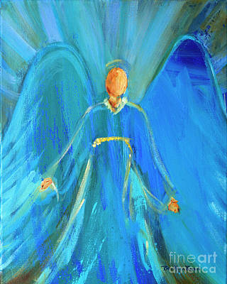 Painting - Faithful Angel By Robin Maria Pedrero  by Robin Maria Pedrero