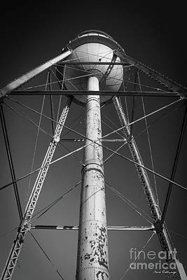 Photograph - Faithful B W Mary Leila Cotton Mill Water Tower Art by Reid Callaway