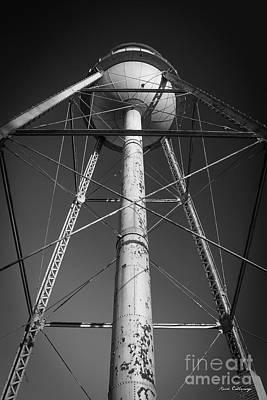 Photograph - Faithful B W Mary Leila Cotton Mill Water Tower Art by Reid Callaway