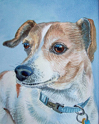 Painting - Beloved Dog Commission By Irina Sztukowski  by Irina Sztukowski