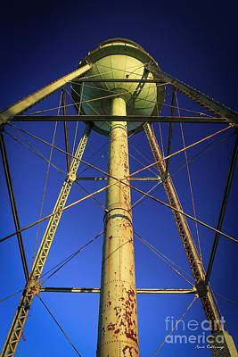 Welded Steel Photograph - Faithful Mary Leila Cotton Mill Water Tower Art by Reid Callaway