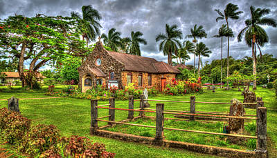 Photograph - Faithful One Christ Memorial Episcopal Church Kilauea Kauai Collection Art by Reid Callaway