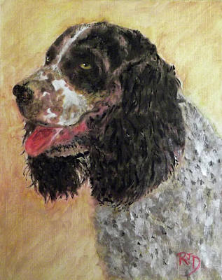 Painting - Faithful Spaniel by Richard James Digance