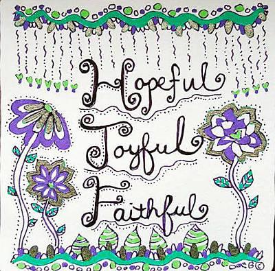 Drawing - Faithful by Carole Brecht