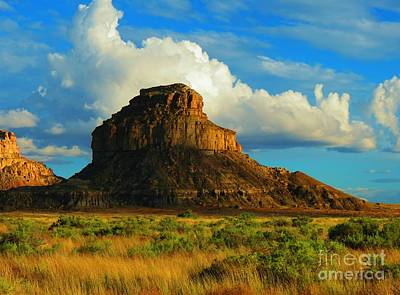Photograph - Fajada Butte At Days End by Feva Fotos