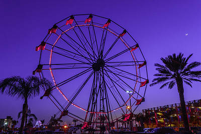 Photograph - Fajitaville Ferris Wheel 1 by Leticia Latocki
