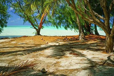 Photograph - Fakarava Atoll Blue Lagoon by Stulaine Studios