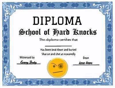 Diploma Digital Art - Fake Diploma by Larry Lamb