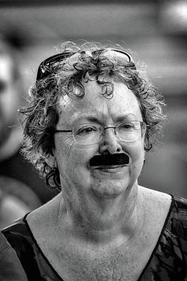 Photograph - Fake Moustache On A Woman by John Haldane