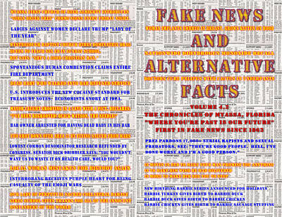 Digital Art - Fake News And Alternative Facts by Jim Williams
