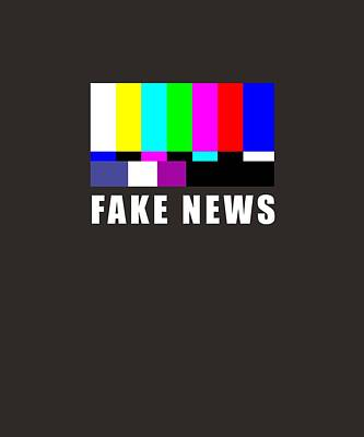 Test Pattern Digital Art - Fake News, Propaganda Tv, Television, Mass Media by Gabriele Huller