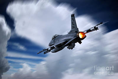 Viper Digital Art - Falcon Burner by J Biggadike