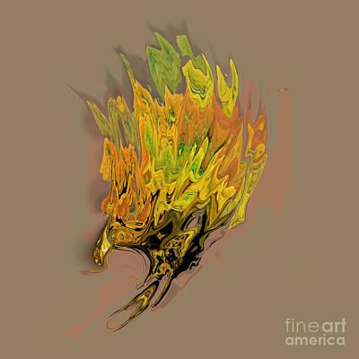 Bird Of Prey Digital Art - Falcon Fire by Ayesha DeLorenzo