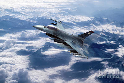 F-16 Digital Art - Falcon Speed by J Biggadike