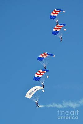 Photograph - Falcons Parachute Team by David Fowler