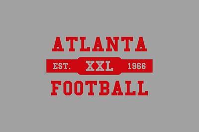 Atlanta Falcons Wall Art - Photograph - Falcons Retro Shirt by Joe Hamilton