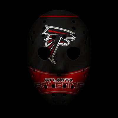Photograph - Falcons War Mask 3 by Joe Hamilton